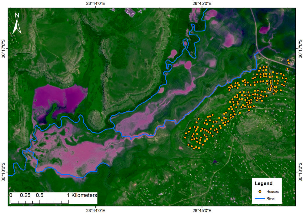 SANSA Remote Sensing Atlas - Flood line map